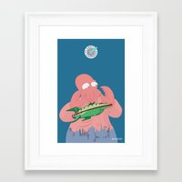 zoidberg Framed Art Prints featuring Why Not Zoidberg? by MCMLXXXV DESIGN