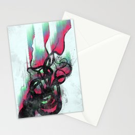 aurora in the water Stationery Cards