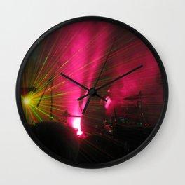 STRFCKR concert lasers Wall Clock
