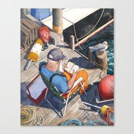 Down East Dockside Canvas Print