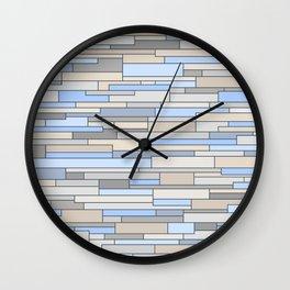 Mosaic Pattern Horizontal Wall Clock