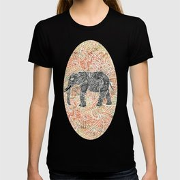 Tribal Paisley Elephant Colorful Henna Floral Pattern T-shirt