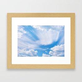 Beautiful blue skies Framed Art Print