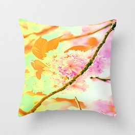 Spring hippy love colors Throw Pillow