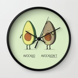 Eat avocado right! Wall Clock