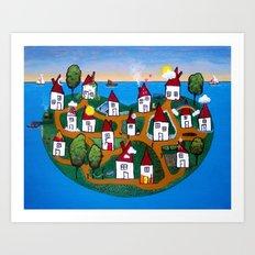 Dream House Island Art Print
