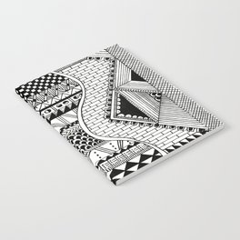 Wavy Geometric Patterns Notebook