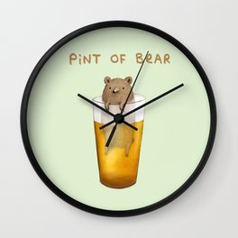 Pint of Bear Wall Clock