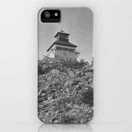 Bolan Mountain Lookout Tower, Siskiyou Forest, California , 1919 iPhone Case