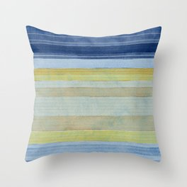 Colorbands Daylight Blue and Yellow Throw Pillow