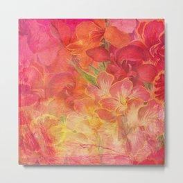Floral Watercolor Pattern (Color) Metal Print