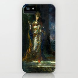 """Gustave Moreau """"The Fiancee of the Night (The Song of Songs)"""" iPhone Case"""