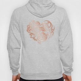 Rose Gold Floral Heart Hoody