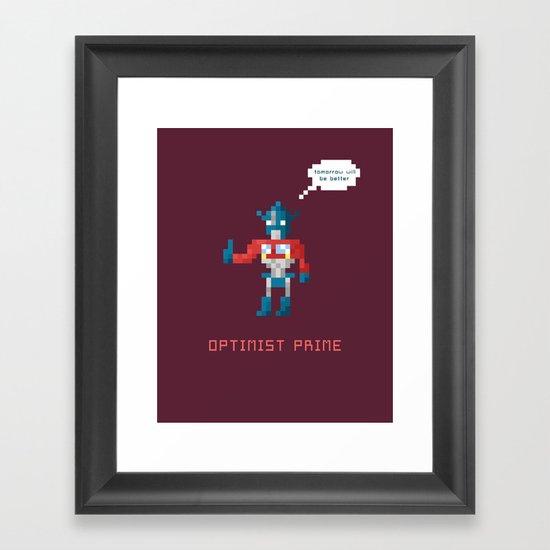 Optimist Prime Framed Art Print