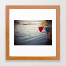 Beach Ball Framed Art Print