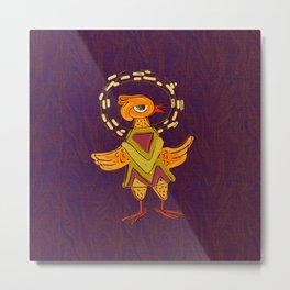 Hola Holy Chicken Metal Print