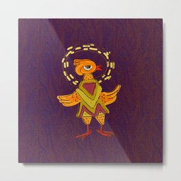 Hola Holy Chicken Metal Print