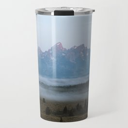 Fog Beneath the Grand Tetons Travel Mug