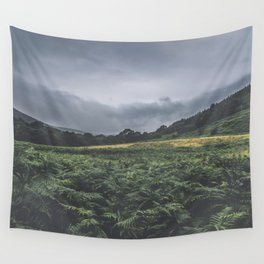 Rough grey fern and mountain landscape, Wicklow Way, Ireland / fine art travel photography Wall Tapestry