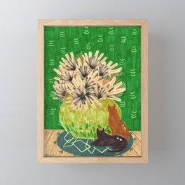Chartreuse Vase drawing by Amanda Laurel Atkins Framed Mini Art Print