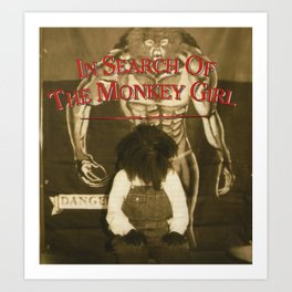 Monkey Girl Art Print