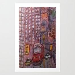 Urban Sketch Toronto Rock Walk Cityscape Art Prints Canvas Colourful Cityscape Handdrawn OOAK Fine Art Art Print