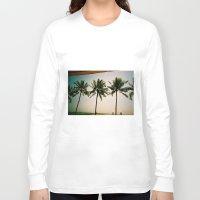 indonesia Long Sleeve T-shirts featuring La Luciola palms, Bali, Indonesia  by Kim Barton