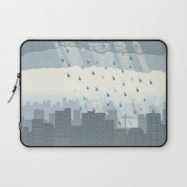 Rain in the city Laptop Sleeve