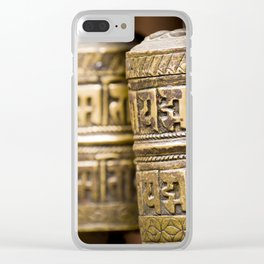 Tibetan Prayer Wheel Nepal Temple Clear iPhone Case