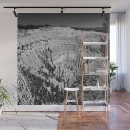 Amazing Bryce Canyon View in Monochrom Wall Mural