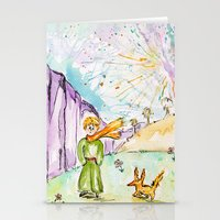 le petit prince Stationery Cards featuring Le petit prince by Colorful Simone