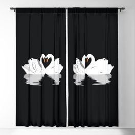 Swan Love Blackout Curtain