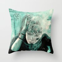 kpop Throw Pillows featuring B.A.P's ZELO by Worldandco