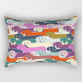 colored doggie pattern Rectangular Pillow