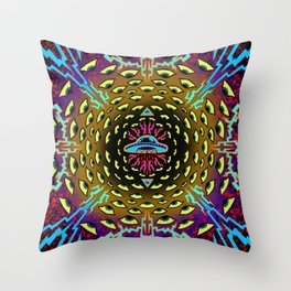 Welcome the invader Throw Pillow