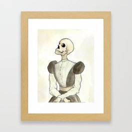 Skeleton Daguerreotype Framed Art Print