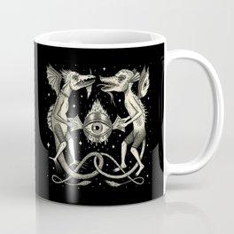 Heraldic Beasts with All-Seeing Orb Coffee Mug