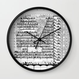 Architecture Section Wall Clock
