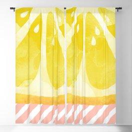 Lemon Abstract Blackout Curtain