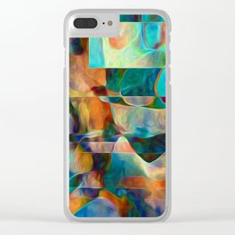 Water Pebbles and Glass Clear iPhone Case