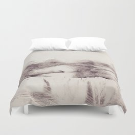 Lying on the bed. Nude studio Duvet Cover