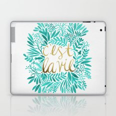 That's Life – Turquoise & Gold Laptop & iPad Skin