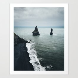 Black Sand Beach (Reynisfjara Iceland) Art Print