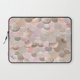 MERMAID SHELLS - CORAL ROSEGOLD Laptop Sleeve