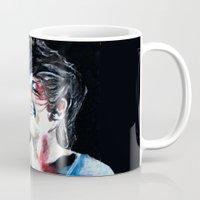 louis tomlinson Mugs featuring Louis Tomlinson by Mimirainb0w