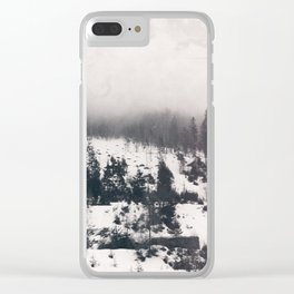 winter photo #winter #blackandwhite #photography Clear iPhone Case