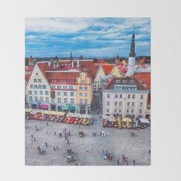 Tallinn art 10 #tallinn #city Throw Blanket