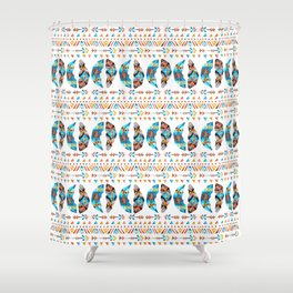 Arrows and Feathers Tribe Shower Curtain