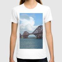 scotland T-shirts featuring Forth Bridge, Scotland by Phil Smyth
