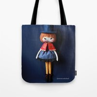 mad hatter Tote Bags featuring Mad Hatter  by Mintwonderland